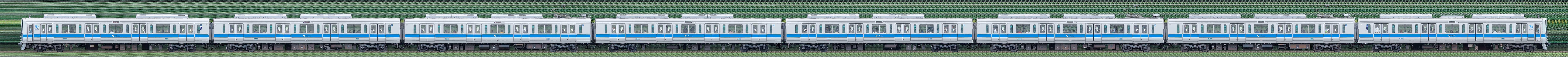 小田急2000形2053×8(山側)の編成サイドビュー