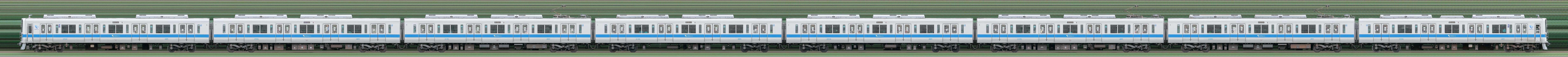 小田急2000形2058×8(山側)の編成サイドビュー
