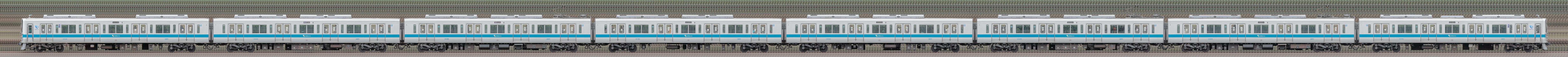 小田急2000形2059×8(山側)の編成サイドビュー