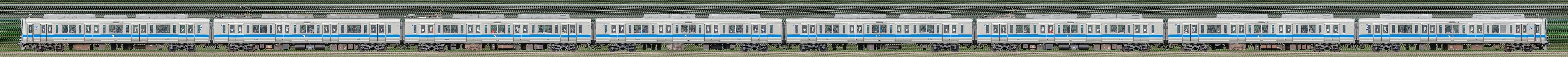 小田急2000形2052×8(海側)の編成サイドビュー
