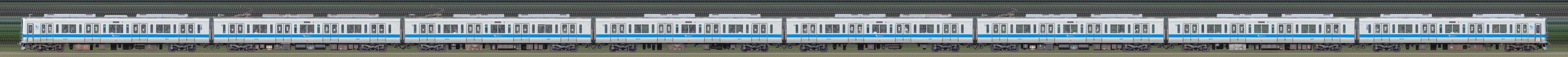 小田急2000形2053×8(海側)の編成サイドビュー
