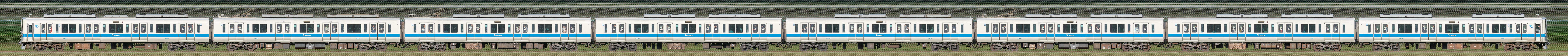 小田急2000形2058×8(海側)の編成サイドビュー
