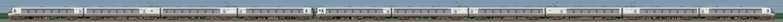小田急30000形ロマンスカー「EXEα」30054×4+30254×6(山側)の編成サイドビュー