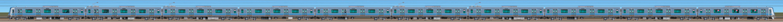 小田急5000形5051×10(山側)の編成サイドビュー
