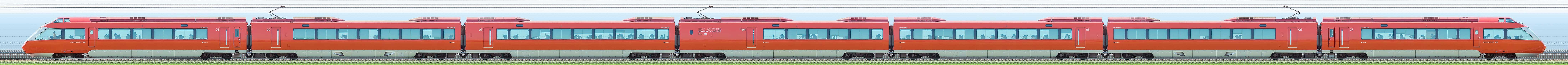 小田急70000形「GSE」70052×7(海側)の編成サイドビュー