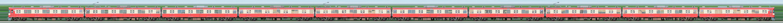 西武9000系9103編成「RED LUCKY TRAIN」(1位側)の編成サイドビュー