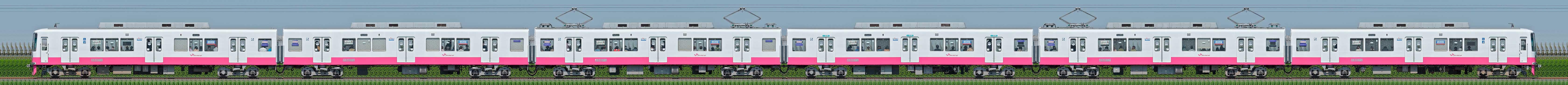 新京成8800形8807編成(機器更新・内装リニューアル車/山側)の編成サイドビュー