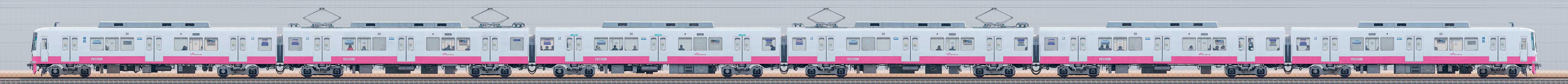 新京成8800形8807編成(機器更新・内装リニューアル車/海側)の編成サイドビュー
