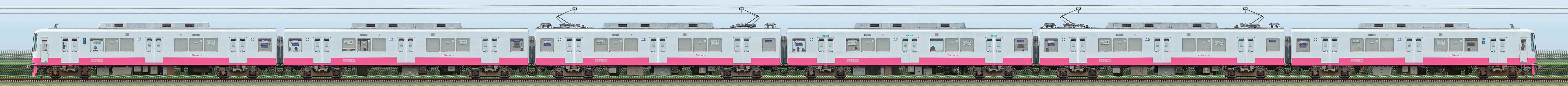 新京成8800形8810編成(機器更新・内装リニューアル車/山側)の編成サイドビュー