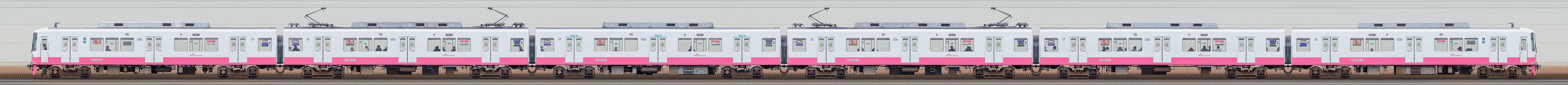 新京成8800形8810編成(機器更新・内装リニューアル車/海側)の編成サイドビュー