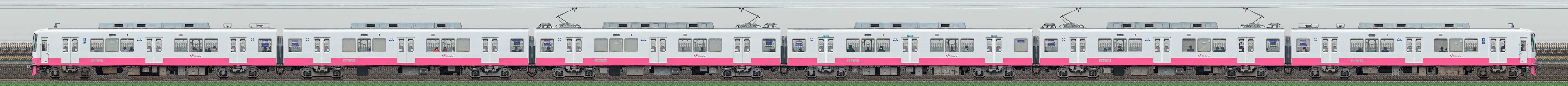 新京成8800形8816編成(機器更新・内装リニューアル車/山側)の編成サイドビュー