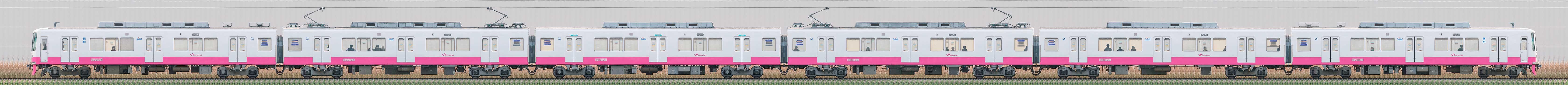 新京成8800形8816編成(機器更新・内装リニューアル車/海側)の編成サイドビュー