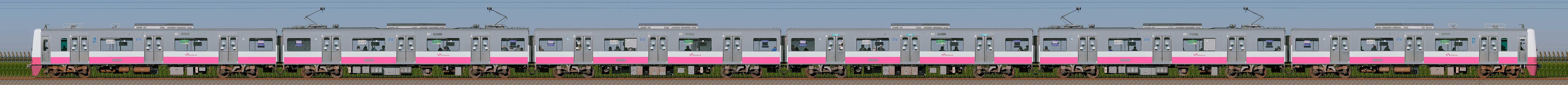 新京成N800形N848編成(山側)の編成サイドビュー