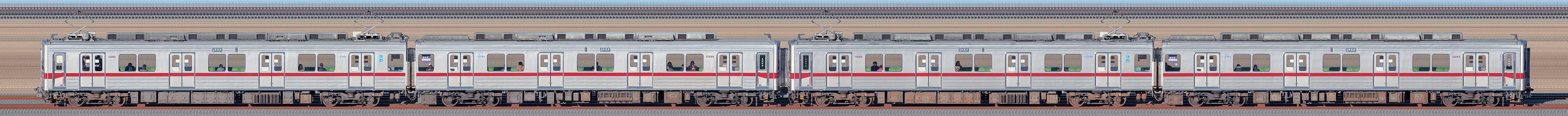 東武鉄道10030型11260編成+11265編成(海側)の編成サイドビュー