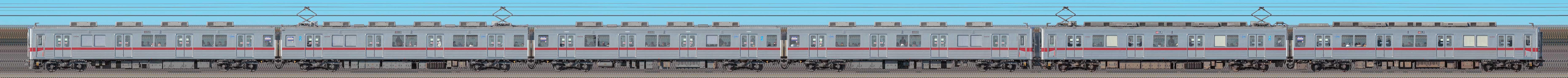 東武鉄道10030型11434編成+11263編成(海側)の編成サイドビュー
