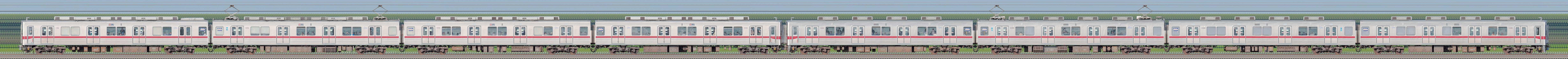 東武鉄道10030型11451編成+10080型11480編成(海側)の編成サイドビュー