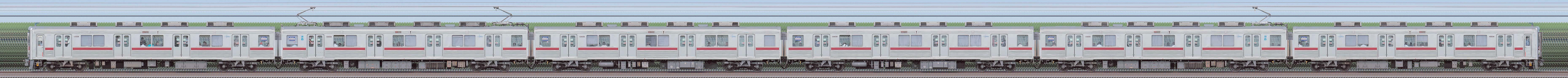 東武10000型11608編成(リニューアル車・海側)の編成サイドビュー