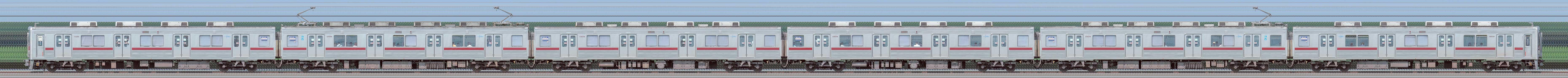 東武10000型11609編成(リニューアル車・海側)の編成サイドビュー