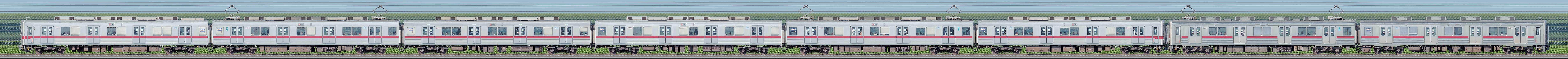 東武10030型11666編成+10000型11204編成(海側)の編成サイドビュー
