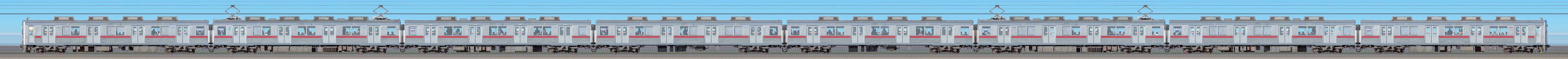 東武10000型11801編成(リニューアル車・海側)の編成サイドビュー