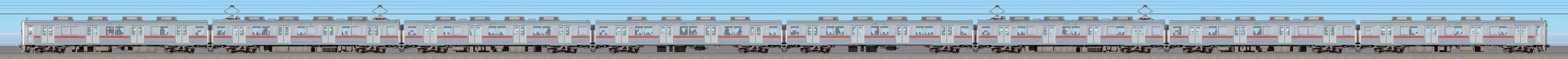東武10000型11802編成(リニューアル車・海側)の編成サイドビュー