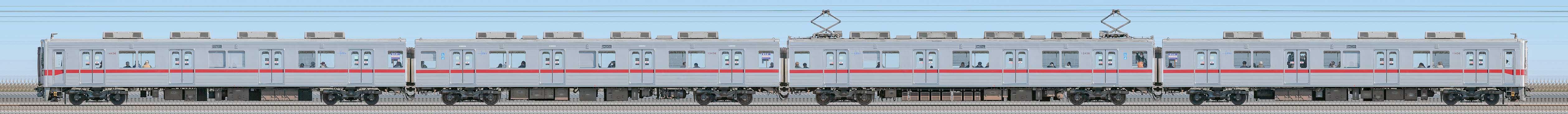 東武10030型(リニューアル車)11436編成(山側)の編成サイドビュー