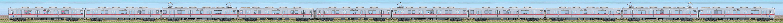 東武10030型(リニューアル車)11637編成(山側)の編成サイドビュー