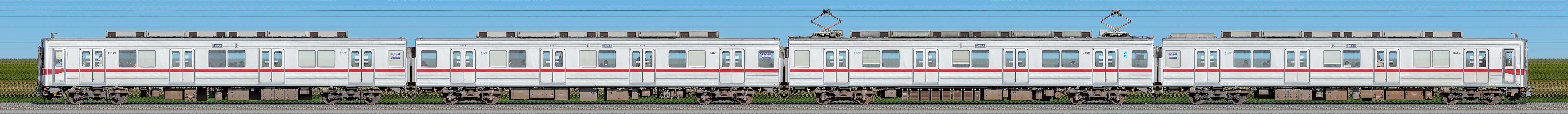 東武鉄道10030型11459編成(山側)の編成サイドビュー