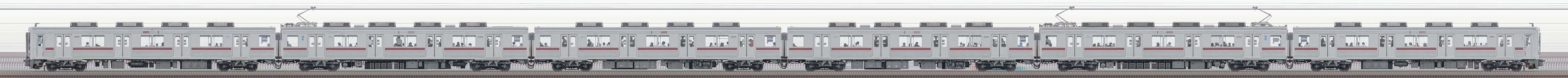 東武10000型11608編成(リニューアル車・山側)の編成サイドビュー