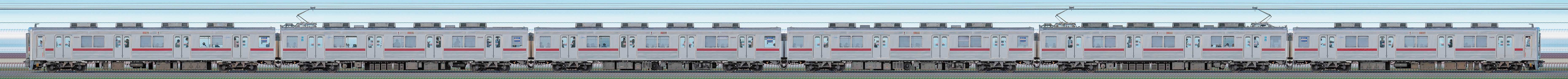 東武10000型11609編成(リニューアル車・山側)の編成サイドビュー