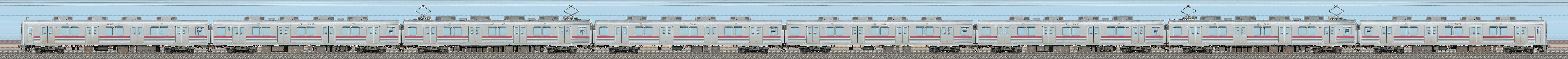 東武10000型11801編成(リニューアル車・山側)の編成サイドビュー