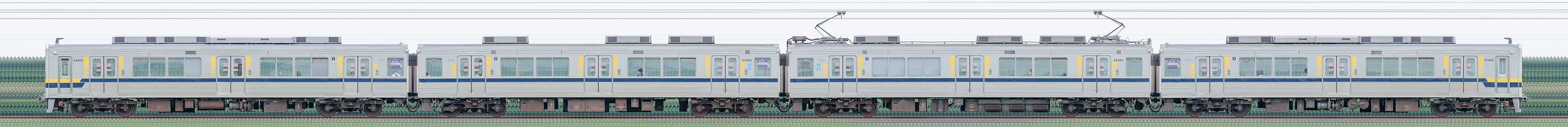 東武20400型21422編成(山側)の編成サイドビュー