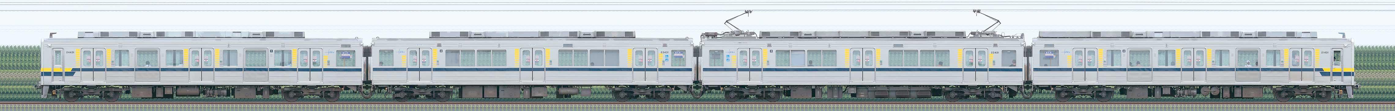 東武20400型21431編成(山側)の編成サイドビュー