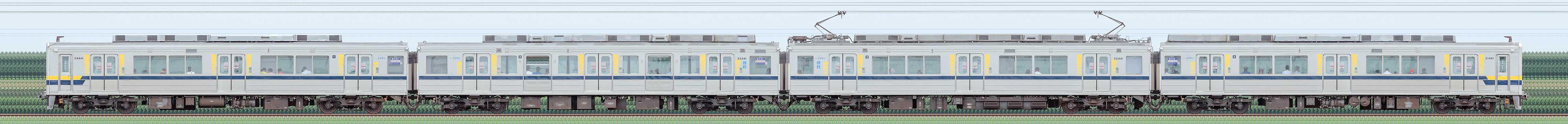 東武20400型21441編成(山側)の編成サイドビュー