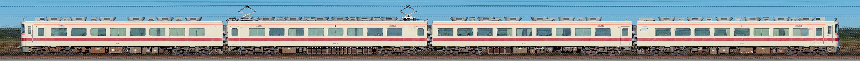 東武350型352編成(山側)の編成サイドビュー