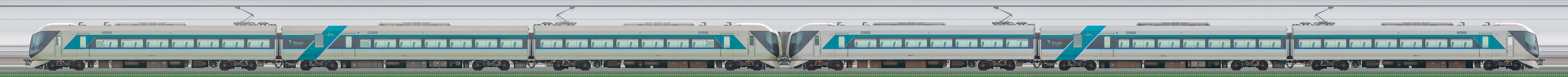 東武500系「リバティ」501編成(荷物置場設置後)+506編成(荷物置場設置前)(山側)の編成サイドビュー