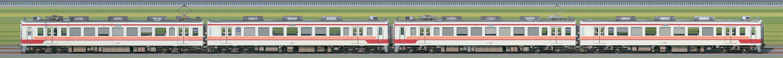 東武6050型6153編成+会津6050系61201編成(海側)の編成サイドビュー