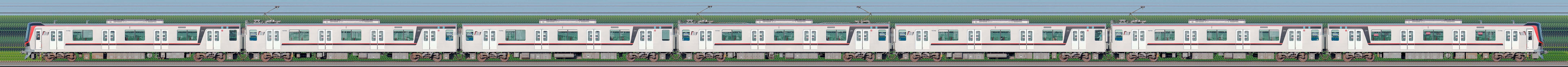 東武70000型71793編成(海側)の編成サイドビュー