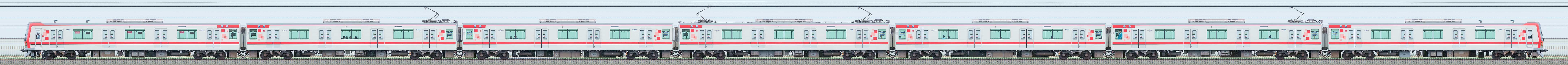 東武70000型71708編成(山側)の編成サイドビュー