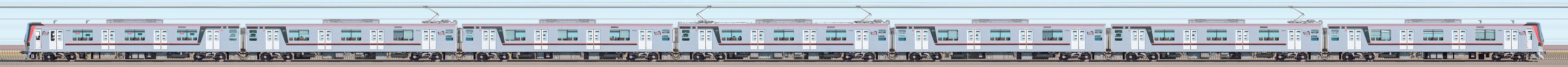 東武70000型71793編成(山側)の編成サイドビュー