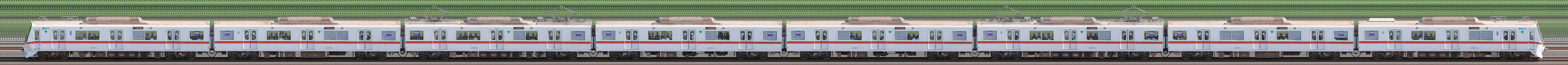 東京都交通局 浅草線 5300形5327編成(海側)の編成サイドビュー