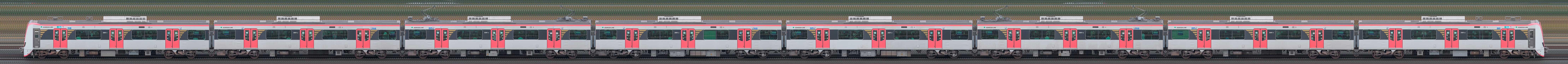 東京都交通局 浅草線 5500形5501編成(海側)の編成サイドビュー