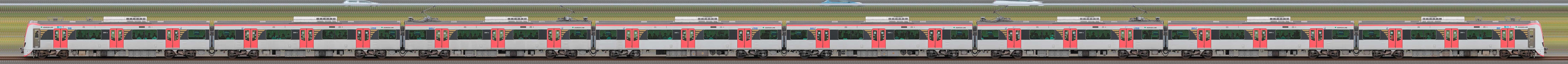 東京都交通局 浅草線 5500形5501編成(山側)の編成サイドビュー