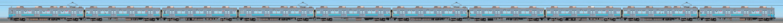 東急8500系8614編成(伊豆急カラー・海側)の編成サイドビュー