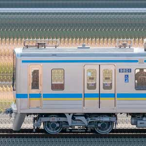 千葉ニュータウン鉄道9800形9808編成(集電装置交換後・山側)