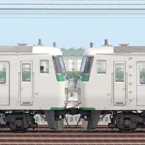 JR東日本大宮総合車両センター185系C6編成+A3編成(山側)