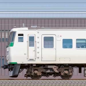 JR東日本大宮総合車両センター185系A6編成(海側)
