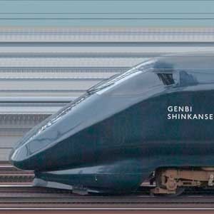 JR東日本E3系700番台 新潟新幹線車両センターR19編成「現美新幹線」(山側)