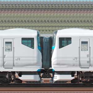 JR東日本E257系2000番台NA-01編成+2500番台NC-32編成(海側)