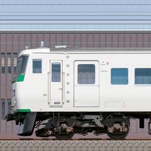 JR東日本大宮総合車両センター185系OM08編成+C5編成(海側)